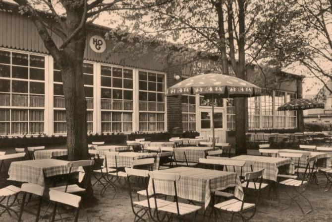 HO Gaststätte Strandcasino um 1970 - Biergarten und Tanzlokal