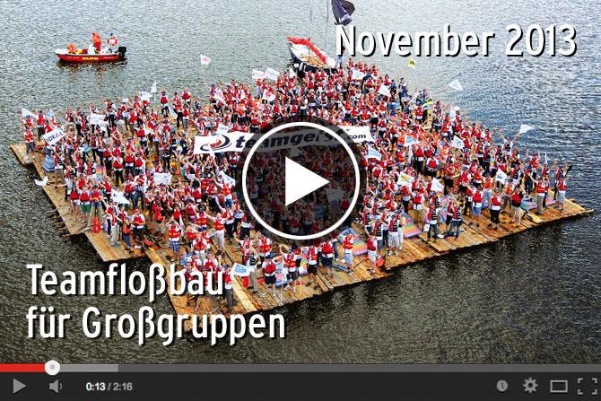 07.11.2013 - Teamfloßbau für Großgruppen