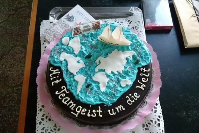Weltumsegelungstorte zum Geburtstag