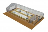 Segelloft - 3D-Ansicht: Eisstockarena