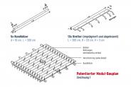 patentiertes Modulsystem / Bauplan 1: Mega-Teamfloß