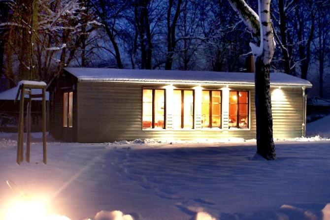 Winterliche Bootshaus Impression