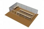 Seelounge - 3D-Ansicht: doppelreihige Festtafel