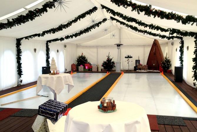 Segelloft - Aktive Weihnachtsfeier in der Eistockarena