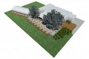 3D-Ansicht: Terrasse (mit Yachtclub Restaurant und Segelloft)