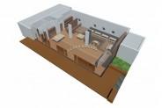 Yachtclub - 3D-Ansicht: Stuhlkreis