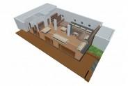 Yachtclub - 3D-Ansicht: Tagung / Festtafel-Block