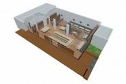 Yachtclub - 3D-Ansicht: Festtafel-U
